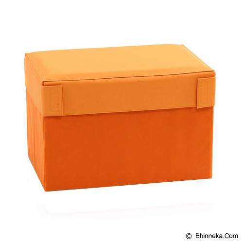 FUNIKA Cube Rectangular Prism Storage Stool [10061R1] - Orange - Container